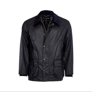 Barbour Black Bedale Wax Jacket - Men's